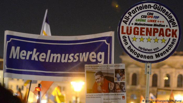 Pegida und Gepida demonstieren in Dresden