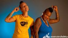 Krudas Cubensi, Olivia Prendes (Pelusa) und Odaymara Cuesta (Pasita) - Cuban activist hip-hop group with black feminist, queer and vegan politics . Foto: Lucero Archuleta, Austin, Texas, 2013 +++Copyright: Lucero Archuleta