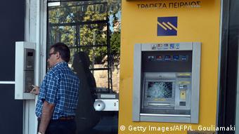 Griechenland Geldautomat außer Betrieb