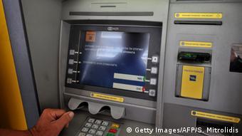 Griechenland, Geldautomat außer Betrieb (Foto: SAKIS MITROLIDIS/AFP/Getty Images)
