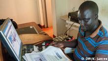 Kenia Nachrichtensprecher Olima Gonzaggha