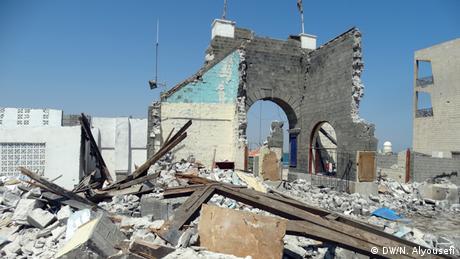 Jemen Zerstörung in Aden Tawahi