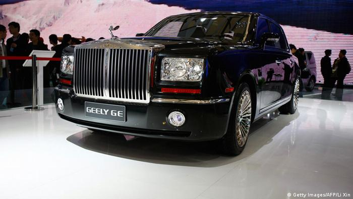 The Geely GE: An obvious copy of a Rolls-Royce (Getty Images/AFP/Li Xin)