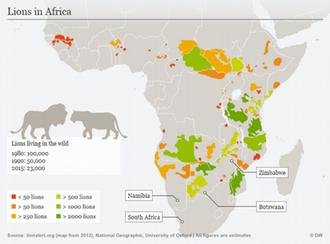 Τα λιοντάρια απειλούνται με εξαφάνιση