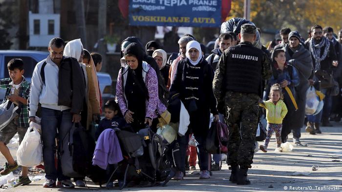 Serbien Mazedonien Flüchtlinge bei Preshevo