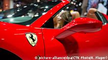 Internationale Motorshow in Paris Frankreich Ferrari 458 Special Spider