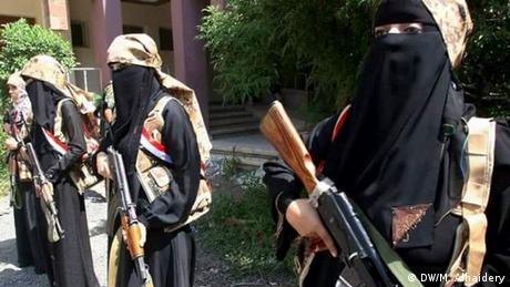 Jemen Bürgerkrieg Frauen mit Kalaschnikow in Taiz