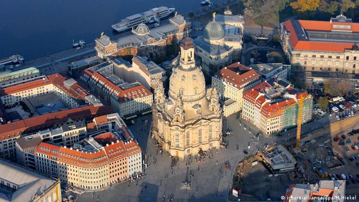 Dresden Frauenkirche Luftaufnahme