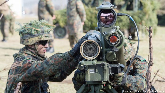 Bundeswehr soldiers training for VJTF