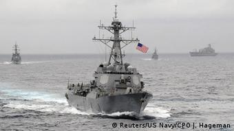 USA warship