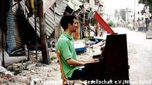 Syrien Pianist Aeham Ahmad in Damaskus