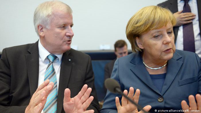 Deutschland Horst Seehofer und Angela Merkel in Berlin