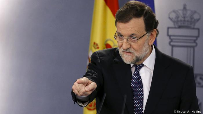 Premierminister Mariano Rajoy in Madrid (Foto: Reuters)