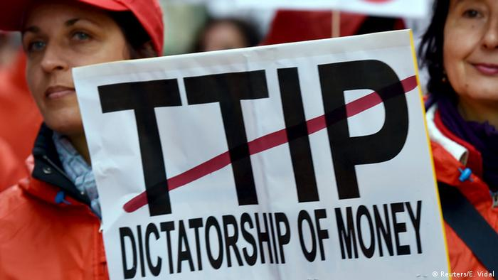 Symbolbild Protest gegen TTIP