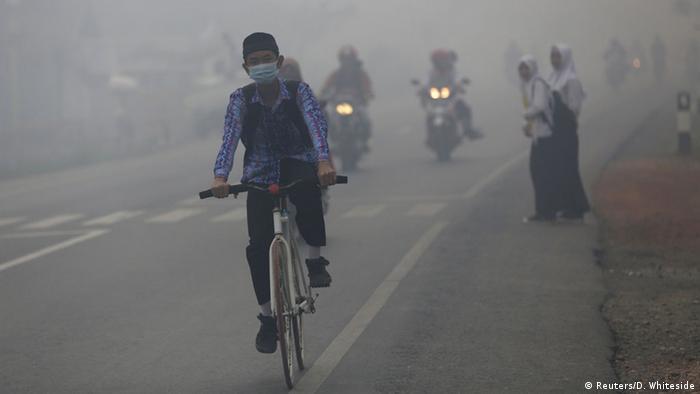 Indonesien Smog Rauch durch Brandrodung (Reuters/D. Whiteside)