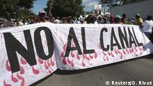 Nicaragua Proteste gegen den Nicaragua-Kanal
