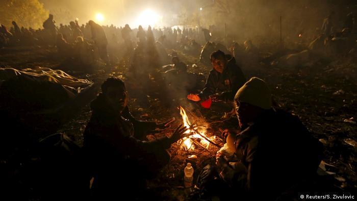 Slowenien Österreich Flüchtlinge bei Sentilj