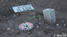 Griechenland Lesbos Insel Grab Unidentifizierter Mensch Flüchtling