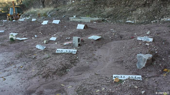 Graves on the island of lesbos (Photo: O. Gill)