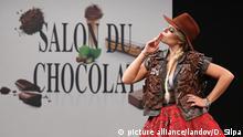 Frankreich Schokolade-Modeschau in Paris