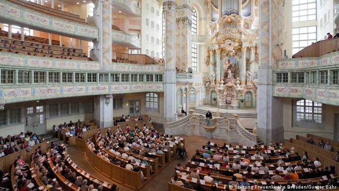 Deutschland Frauenkirche in Dresden