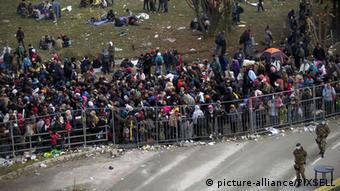 Österreich Spielfeld Grenze Slowenien Flüchtlinge Zaun