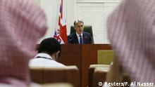 Britain's Foreign Secretary Philip Hammond attends a joint news conference with his Saudi counterpart Adel al-Jubeir (not seen) in Riyadh October 28, 2015. Al-Jubeir said on Wednesday that the war a Saudi-led coalition has been fighting against Iran-allied fighters in Yemen for seven months may soon end. REUTERS/Faisal Al Nasser Reuters/F. Al Nasser