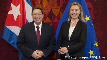 Brüssel EU Kuba Bilaterales Treffen Mogherini Rodríguez Parilla