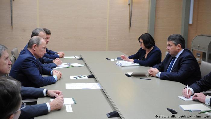 Встреча Зигмара Габриэля и Владимира Путина