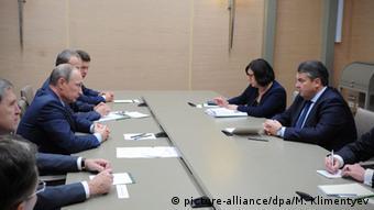 Путин и Габриэль на встрече в Москве