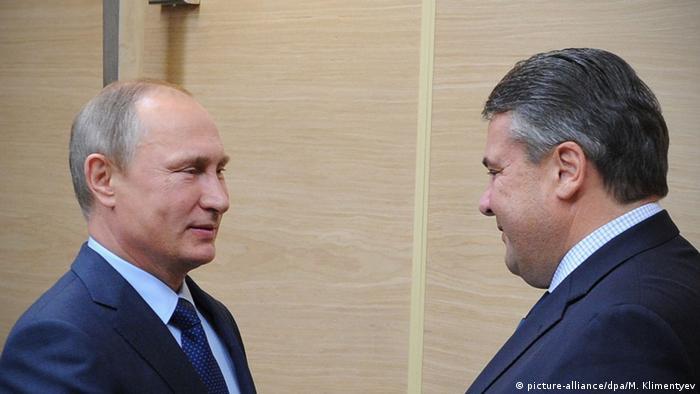 Vladimir Putin and Sigmar Gabriel