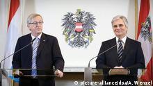 Österreich Wien Treffen Juncker Faymann