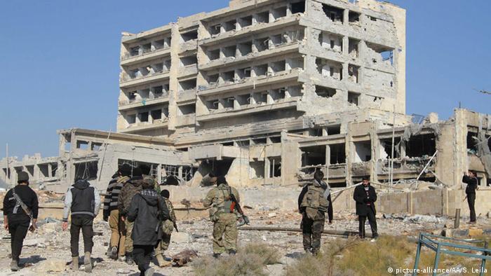 Разрушенная больница в Алеппо (фото из архива)
