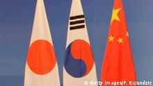 Asien trilaterale Zusammenarbeit Japan China und Südkorea Symbolbild