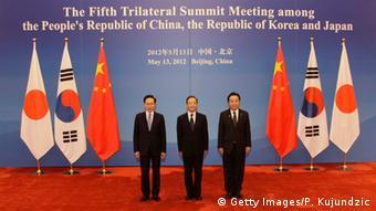 Asien trilaterale Zusammenarbeit Japan China und Südkorea