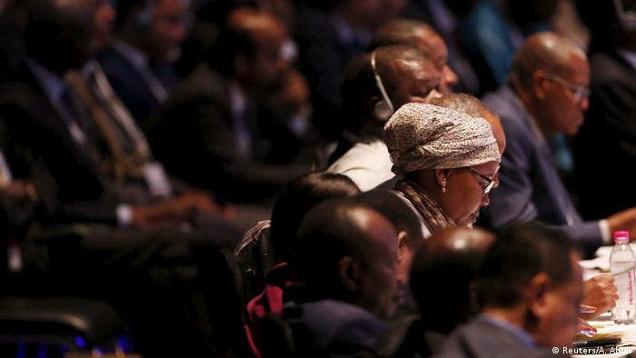 African delegates attend the Inaugural Session of the India-Africa Forum Summit in New Delhi, India, October 29, 2015 (Photo: REUTERS/Adnan Abidi)