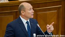 Moldau Valeriu Strelet Rede im Parlament