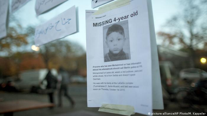 Missing poster showing Mohamed