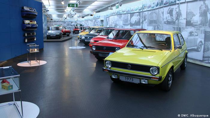 Golf models at the VW-Museum, Copyright: VW-Museum Wolfsburg, Volkswagen, Golf