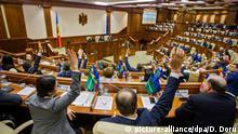Republik Moldau Chisinau Parlament Abstimmung Misstrauensvotum
