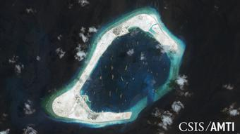 Spratly-Inseln Satelitenaufnahme