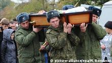 Russland Syrien Begräbnis des russischen Soldaten Vadim Kostenko