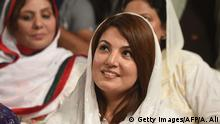 Pakistan Reham Khan Ehefrau des Politikers Imran Khan (Getty Images/AFP/A. Ali)