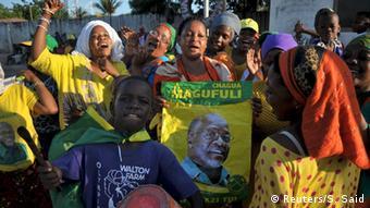 Tansania Wahlen CCM John Magufuli Anhänger