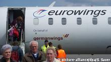 Deutschland Fluggesellschaft Eurowings Flugzeug
