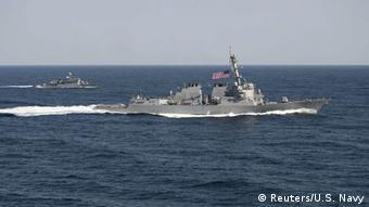 Südchinesisches Meer US Navy USS Lassen Zerstörer