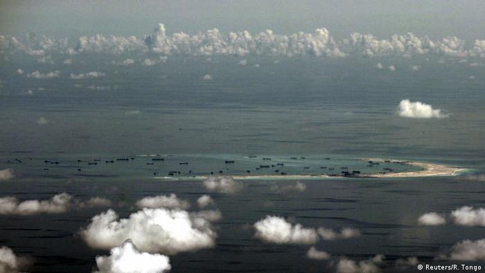 Südchinesisches Meer Spratly Inseln Luftaufnahme