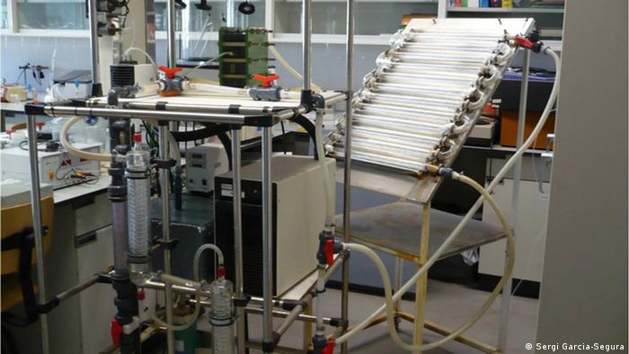 Photo-Electro-Fenton reactor at the University of Barcelona (photo: Sergi Garcia-Segura)