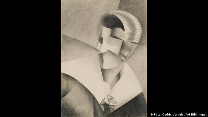 Марте Дона, Голова в стиле кубизма, 1917 год.