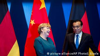 Angela Merkel and Li Keqiang in Heifei